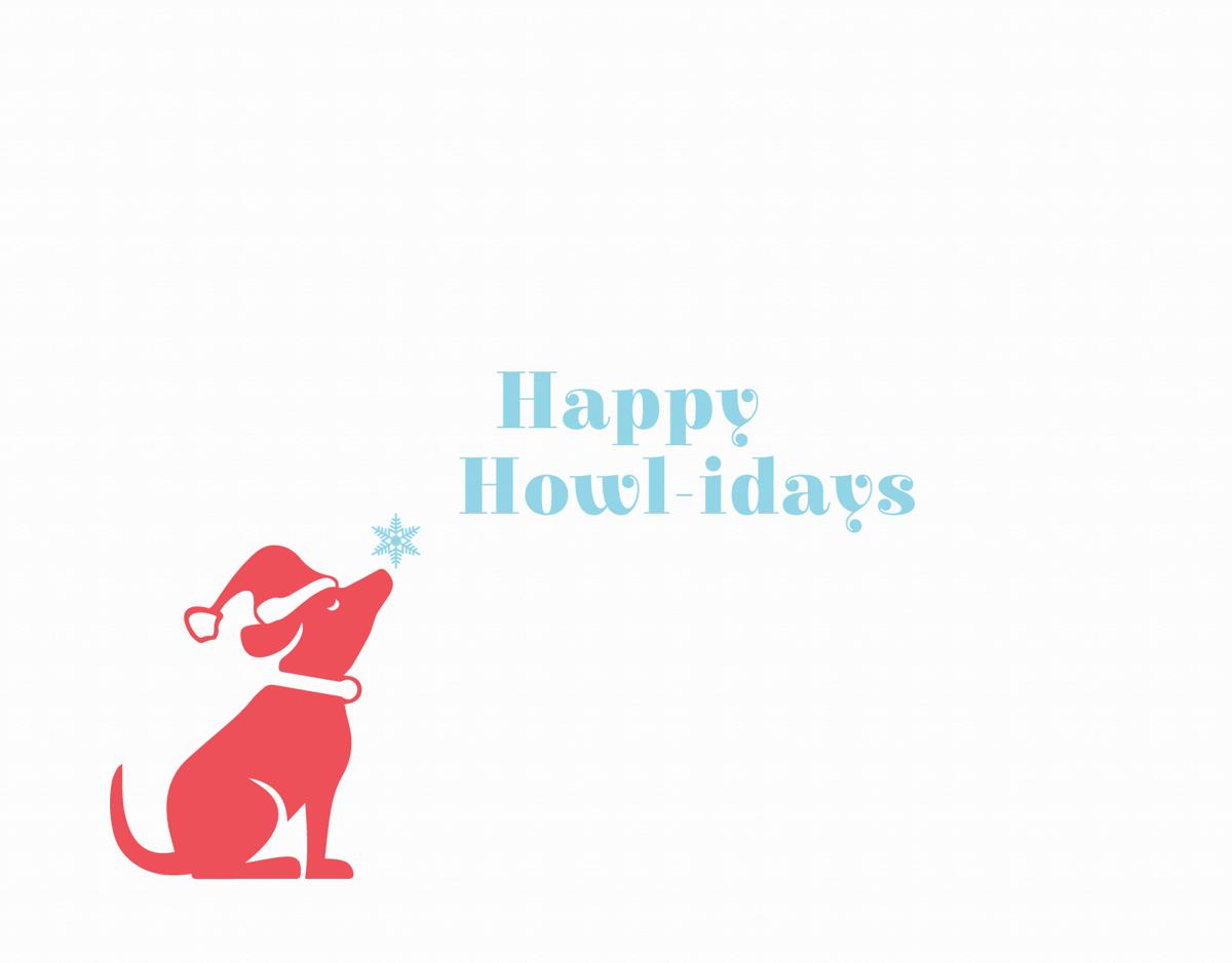 Cute Dog Happy Holidays Card