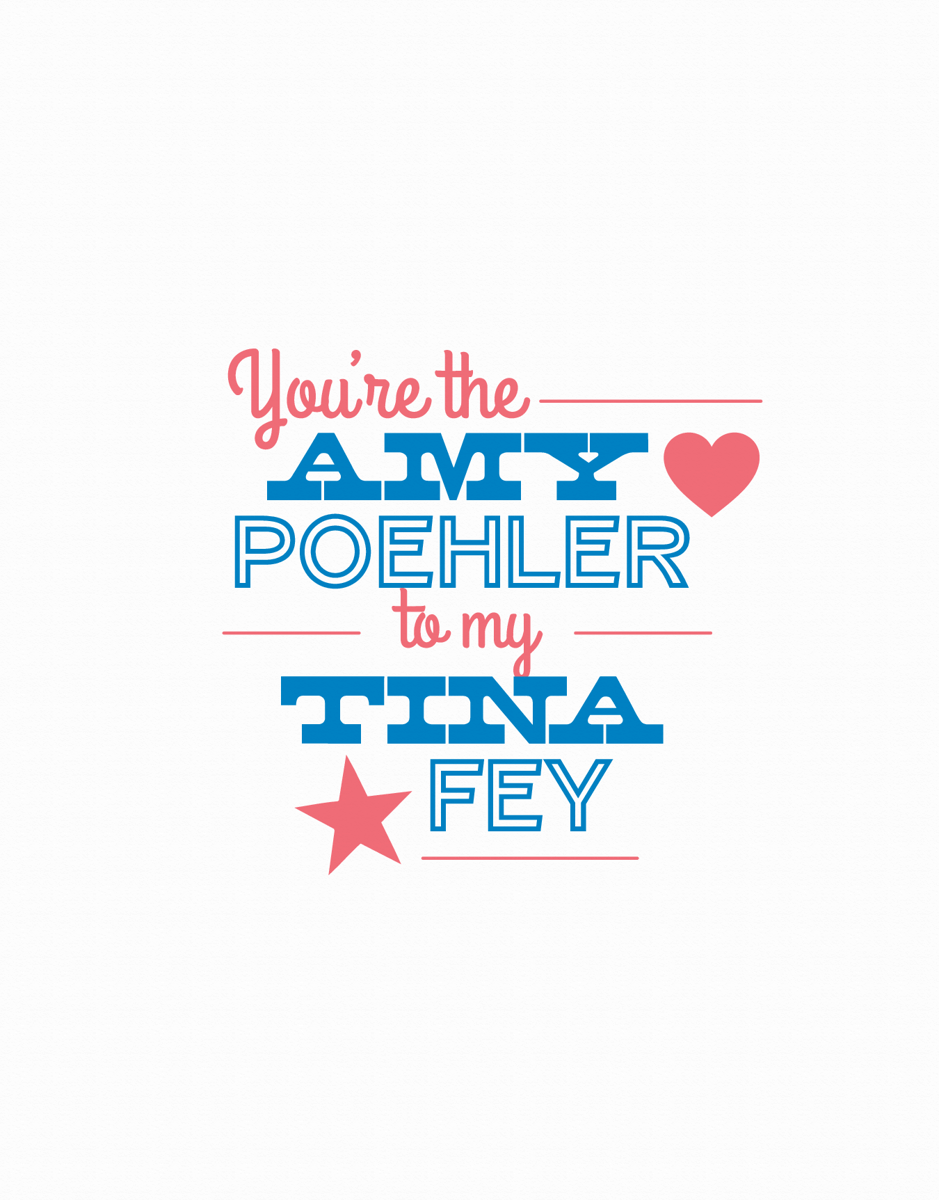 Amy Koehler and Tina Fey Friendship Card