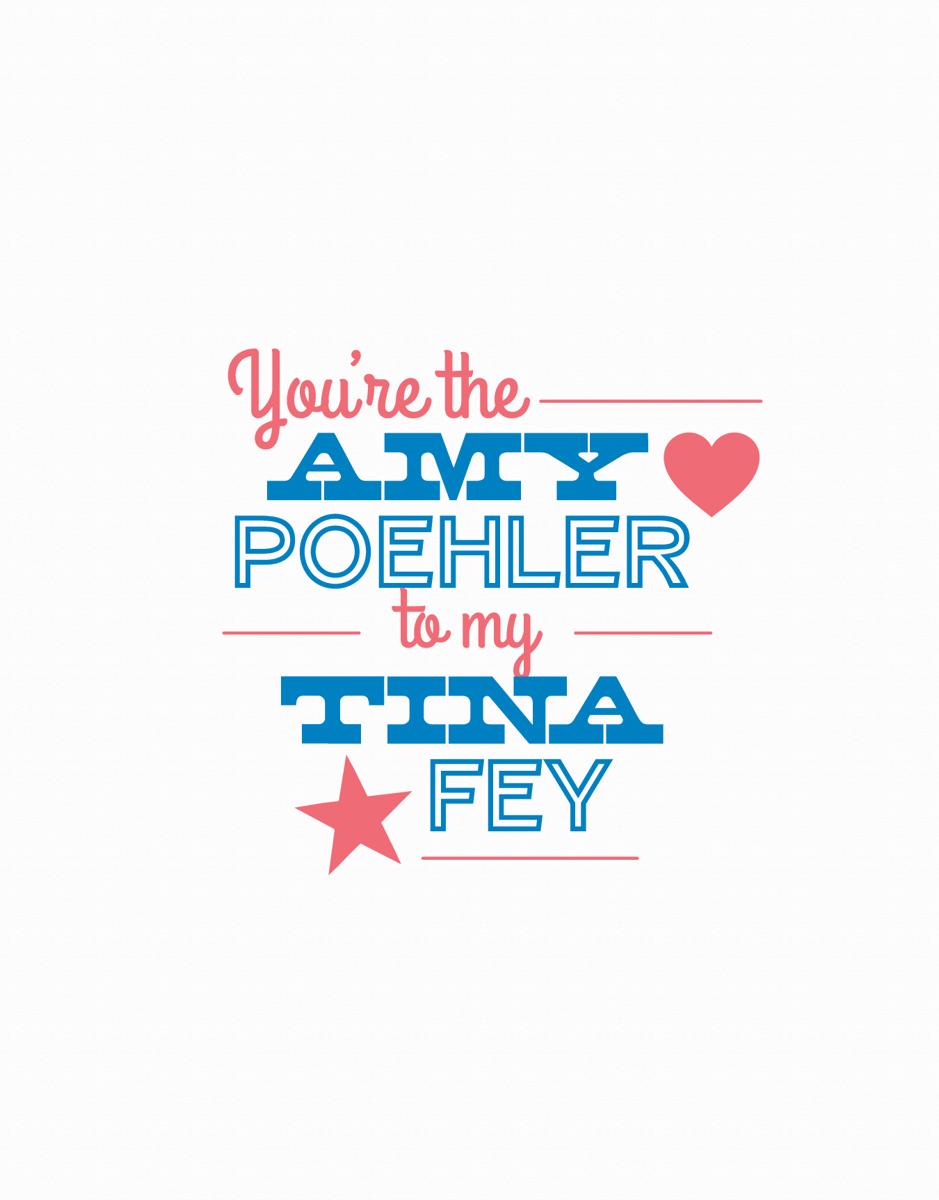 Amy Koehler and Tina Fey Friendship Card