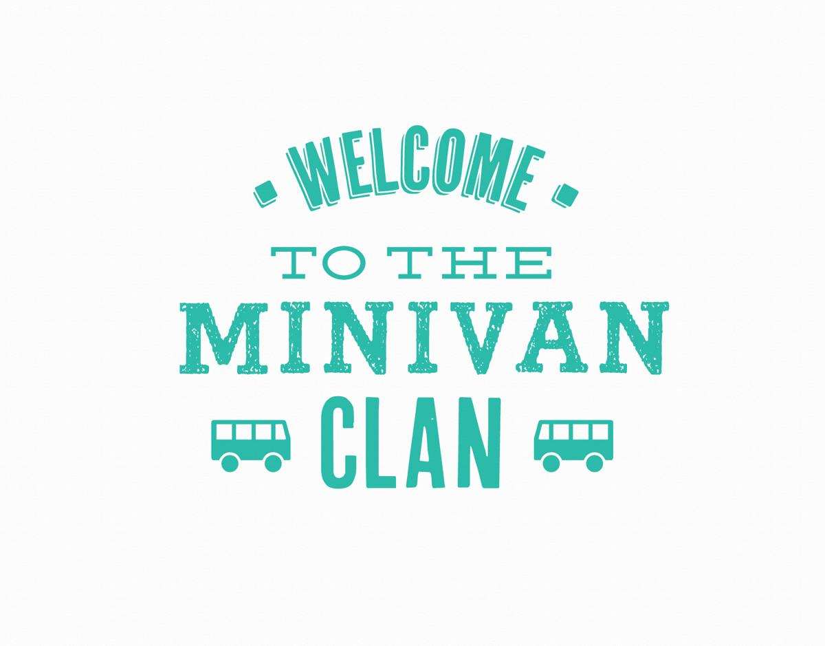 Welcome to the Minivan Clan Congrats Card
