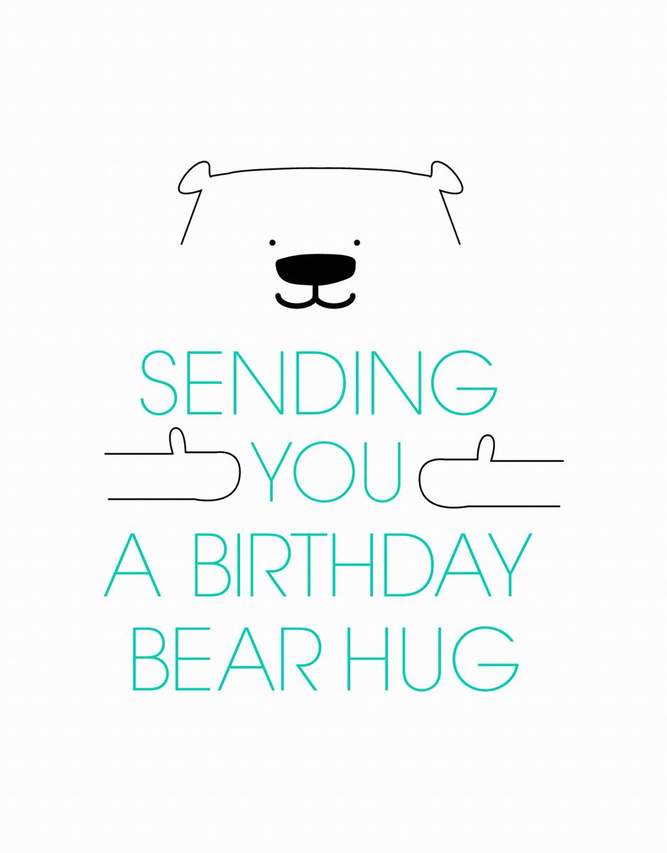 Birthday Bear Hug