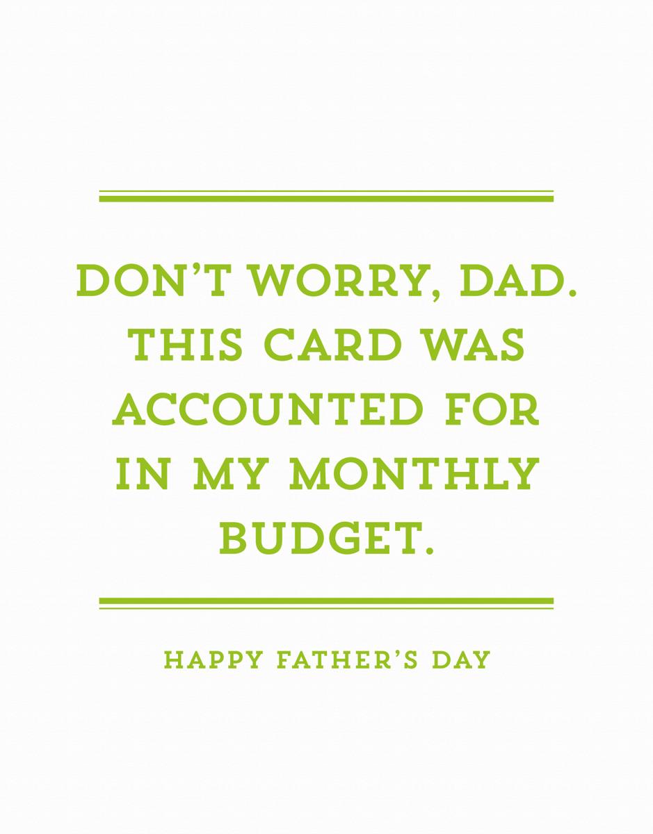 Dad Budget