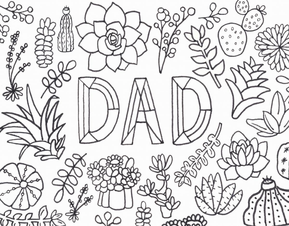 Dad Coloring