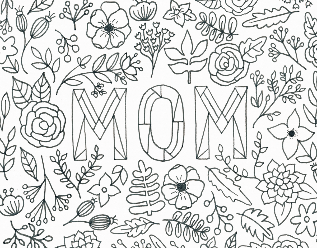 Mom Coloring