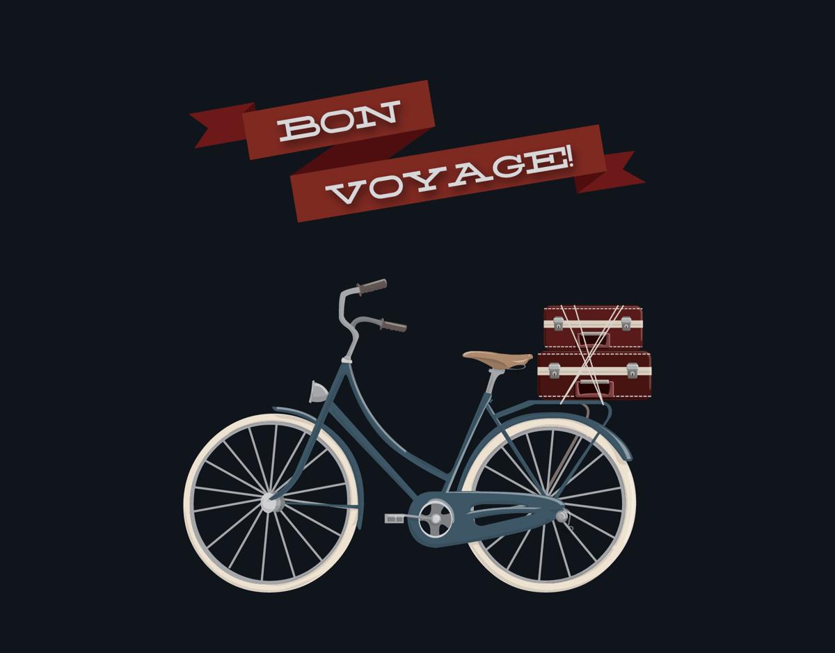 Bon Voyage We've Moved Card