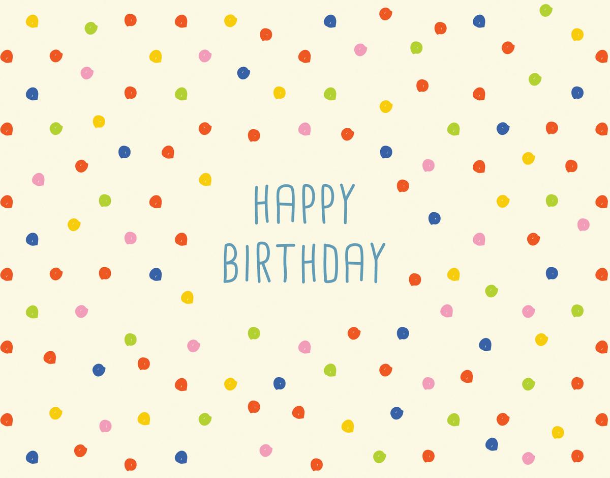Colorful Polka Dots Birthday Card