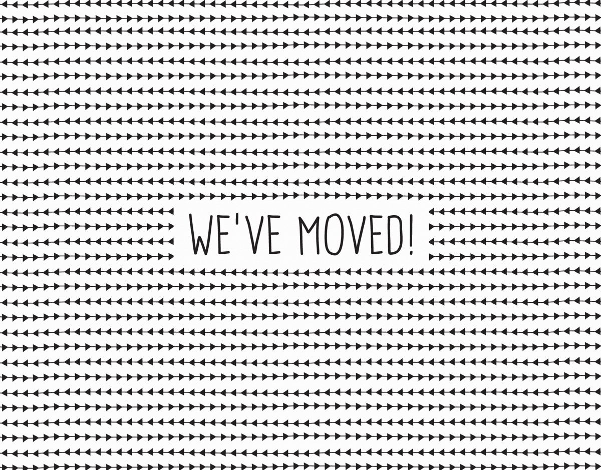 Black and White We've Moved Card