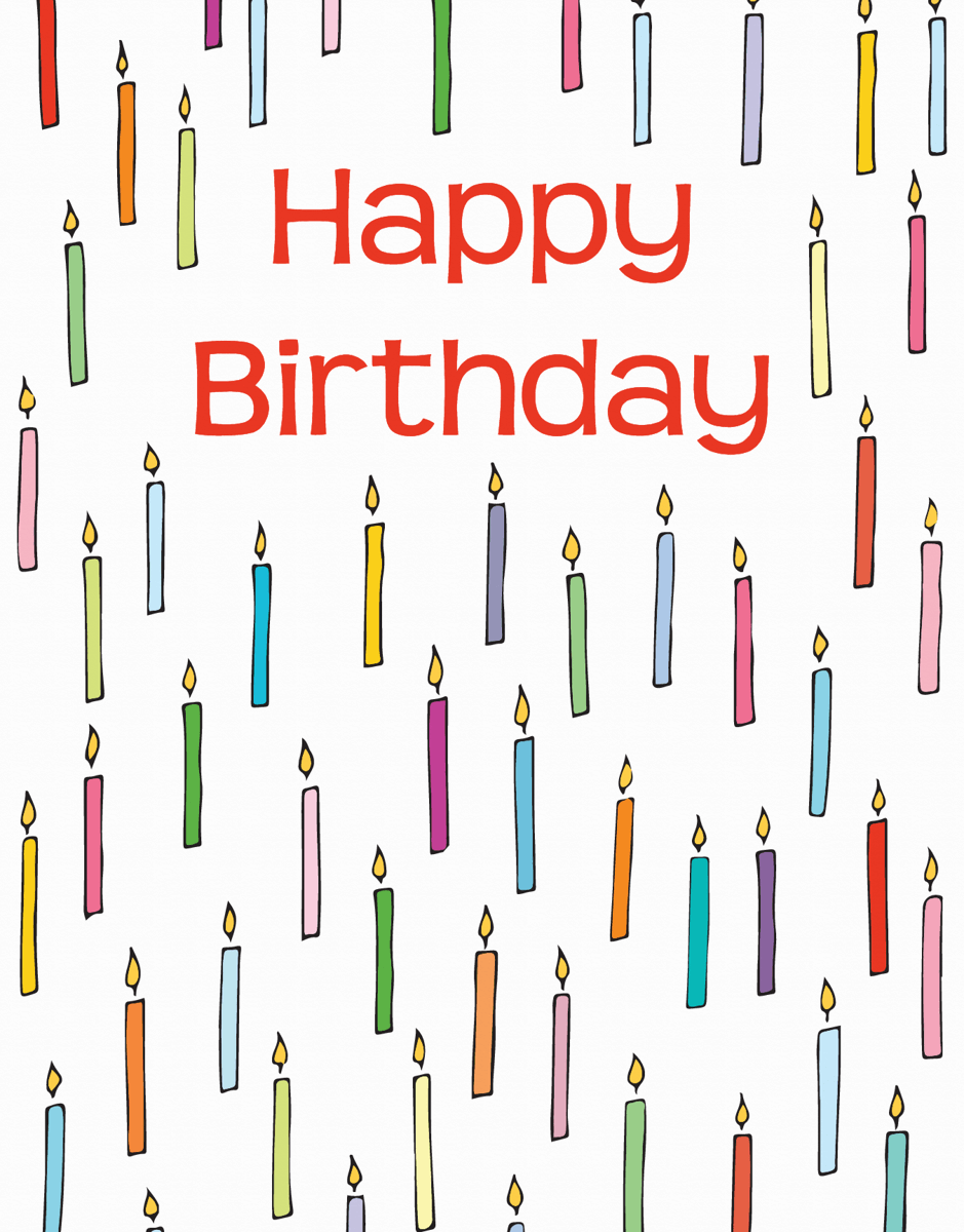 Cheerful Birthday Candles Greeting Card