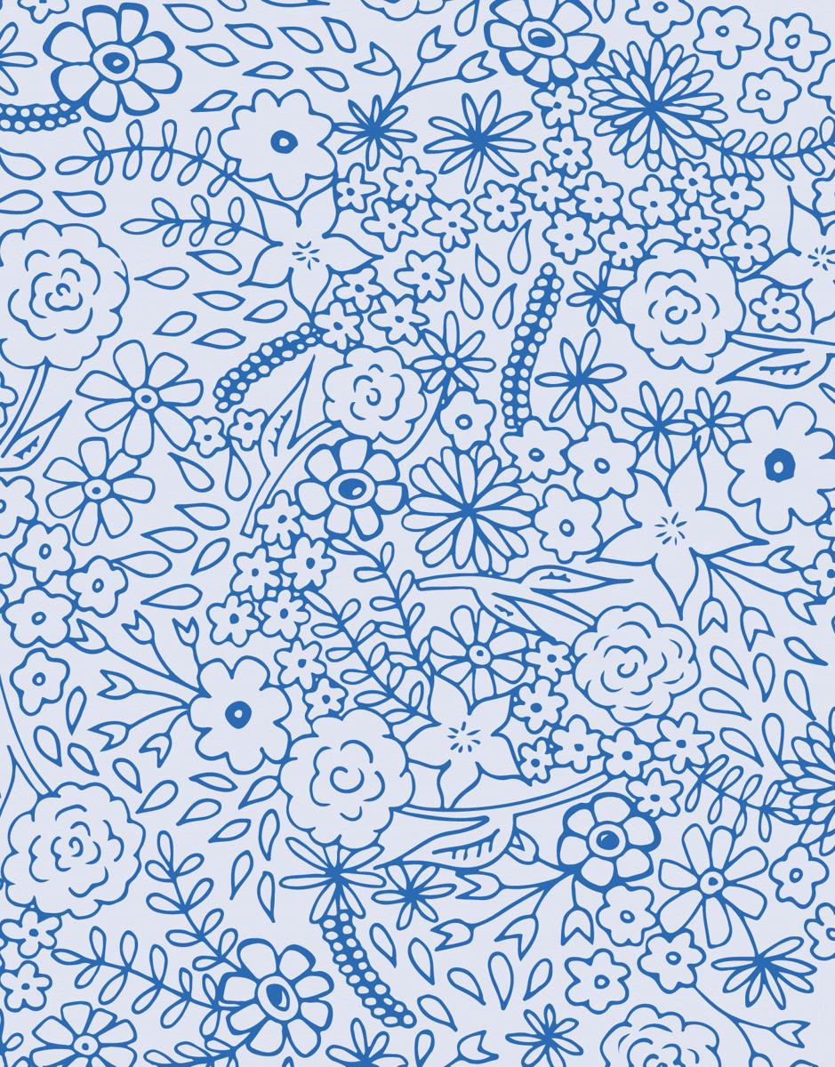 Blue Field of Flowers Stationery