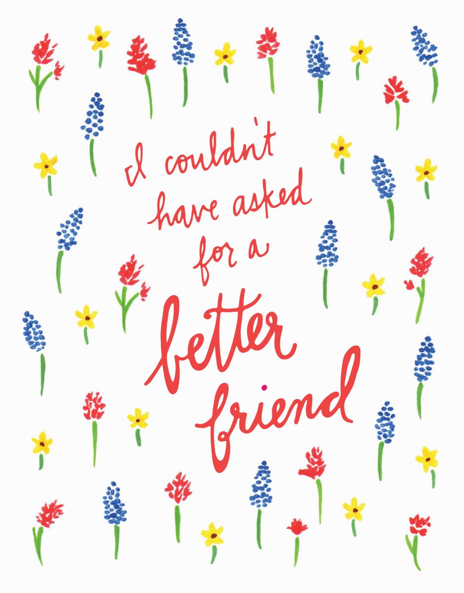 Floral Friendship Card
