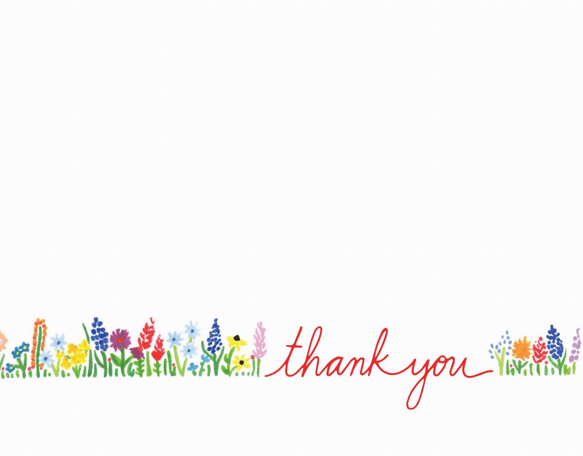 Sweet wildflowers minimal thank you card