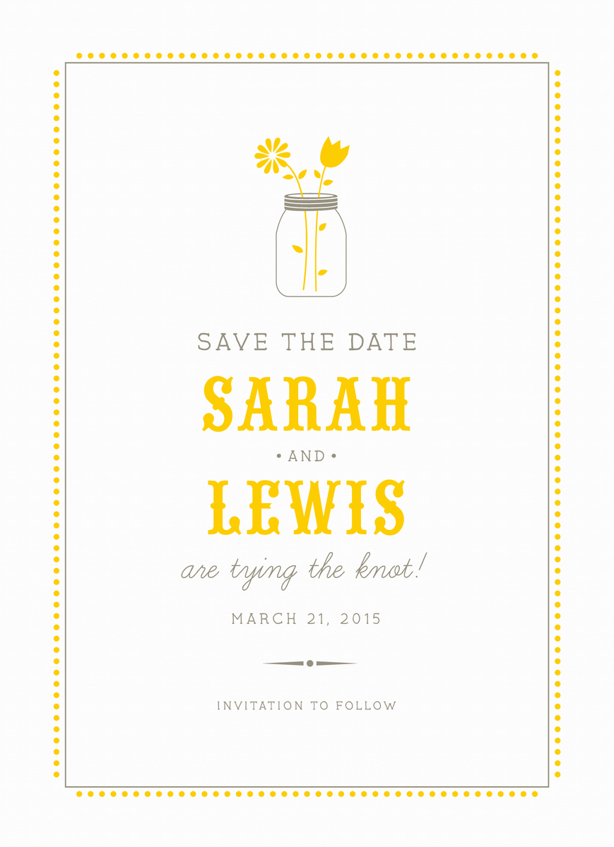 Lemonade Stand Save the date