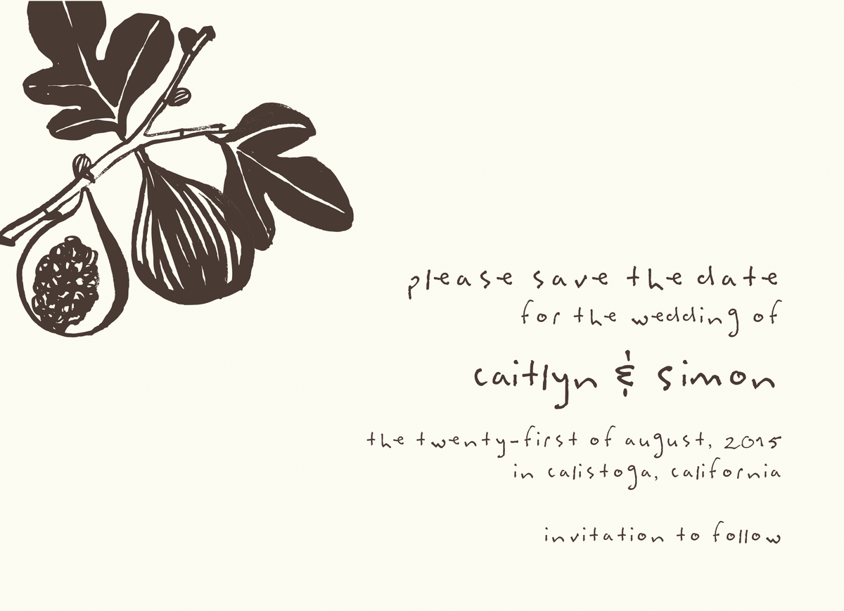 Earthy Figs Save The Date
