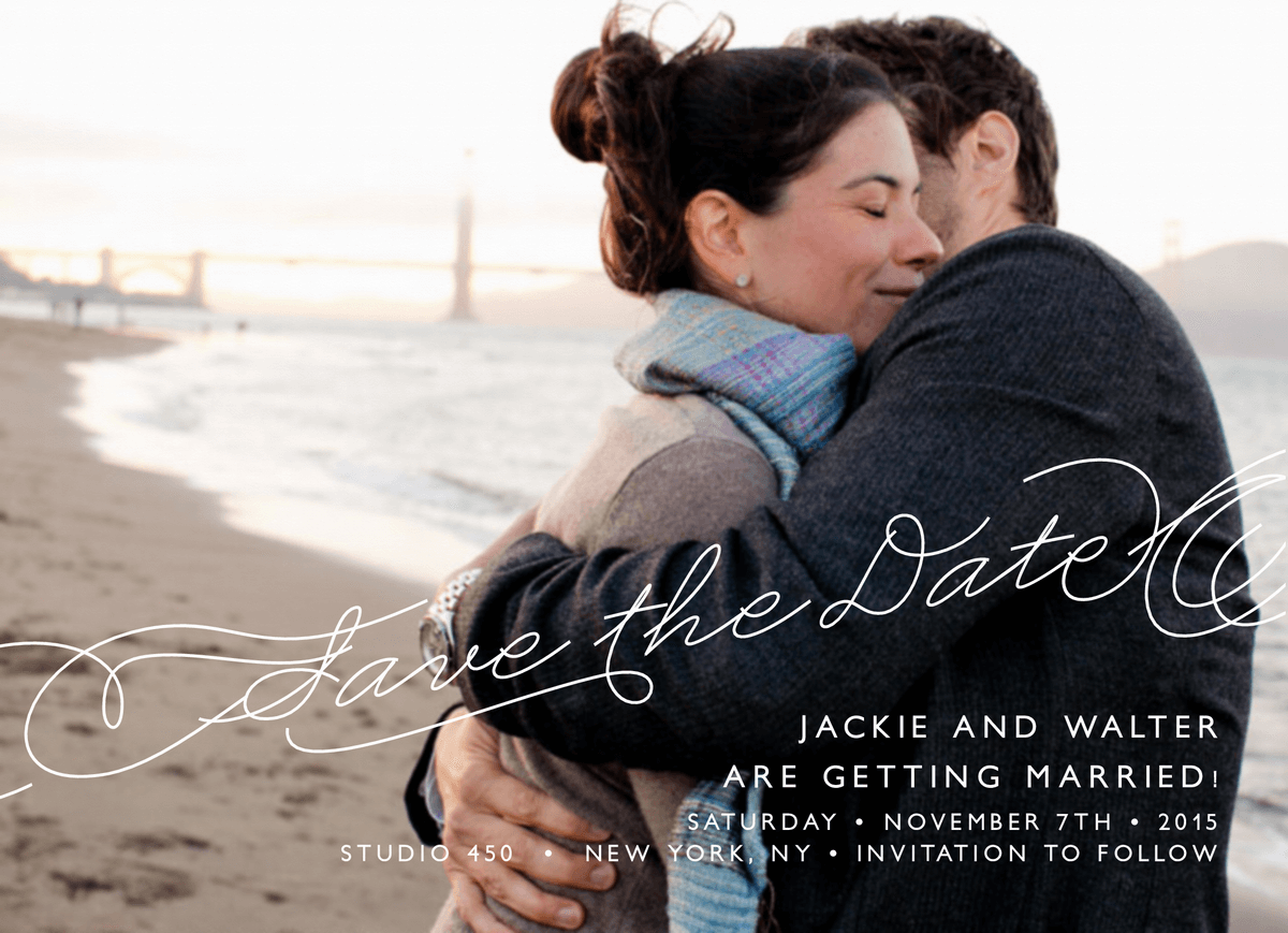 Elegant Atlantic Save The Date