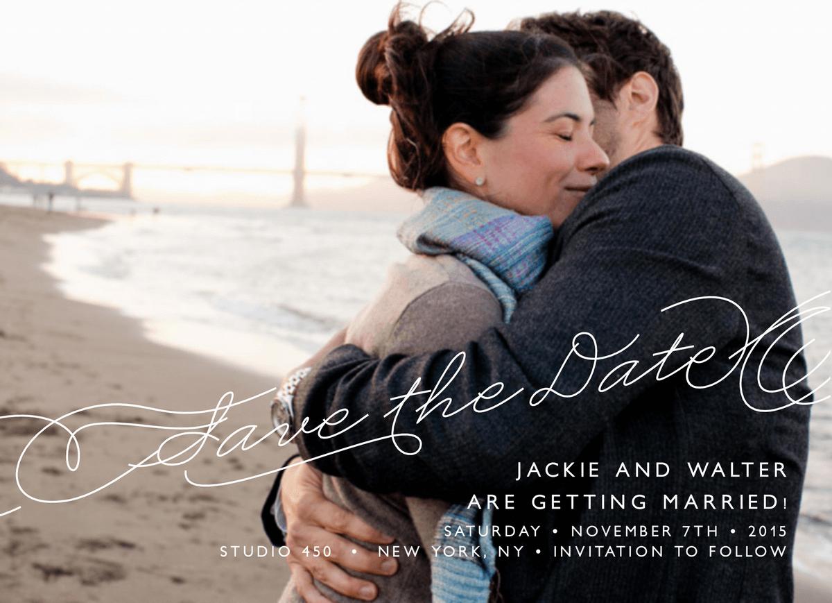 Elegant Atlantic Save The Date