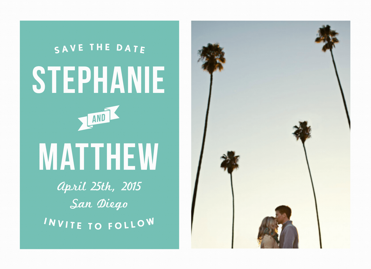 Palm Save the Date