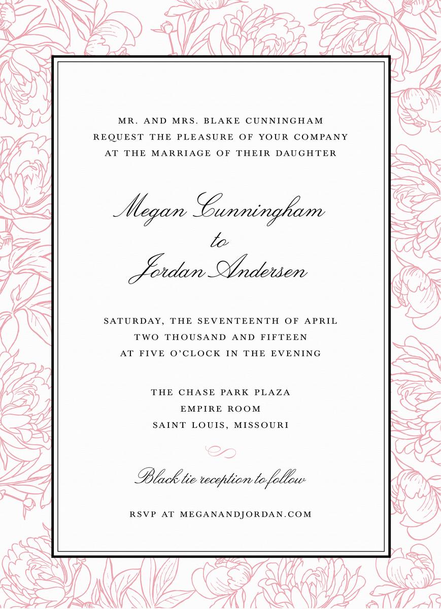Peonies Invitation