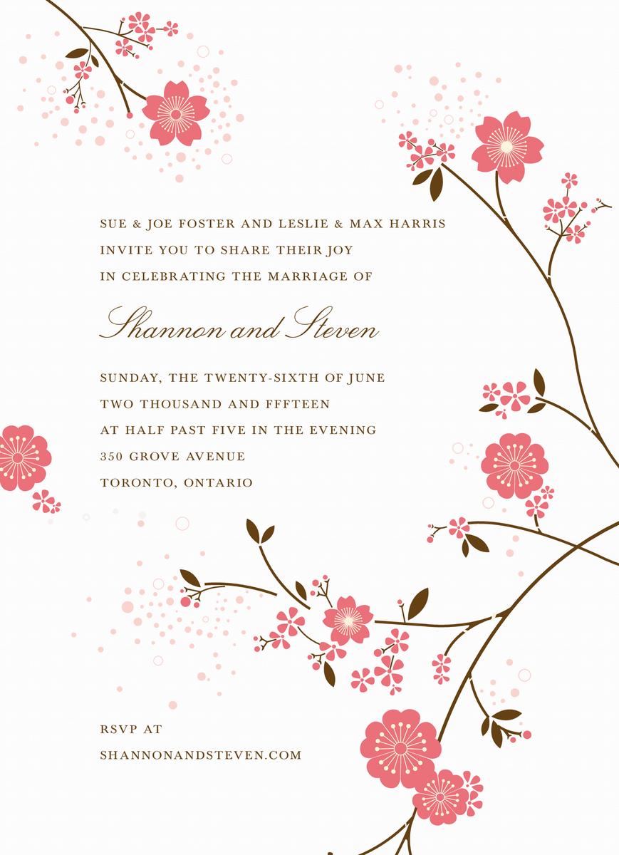 Cherry Blossom Invitation