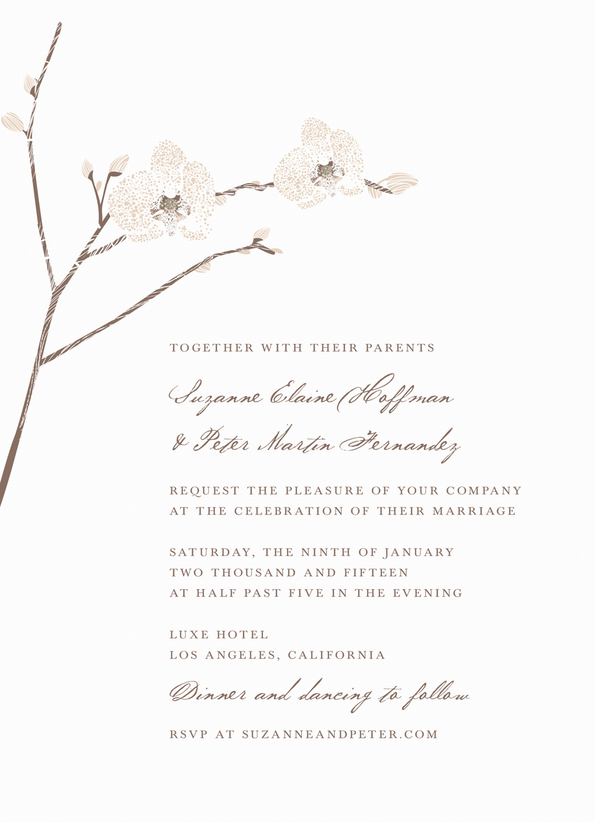 Orchid Invitation