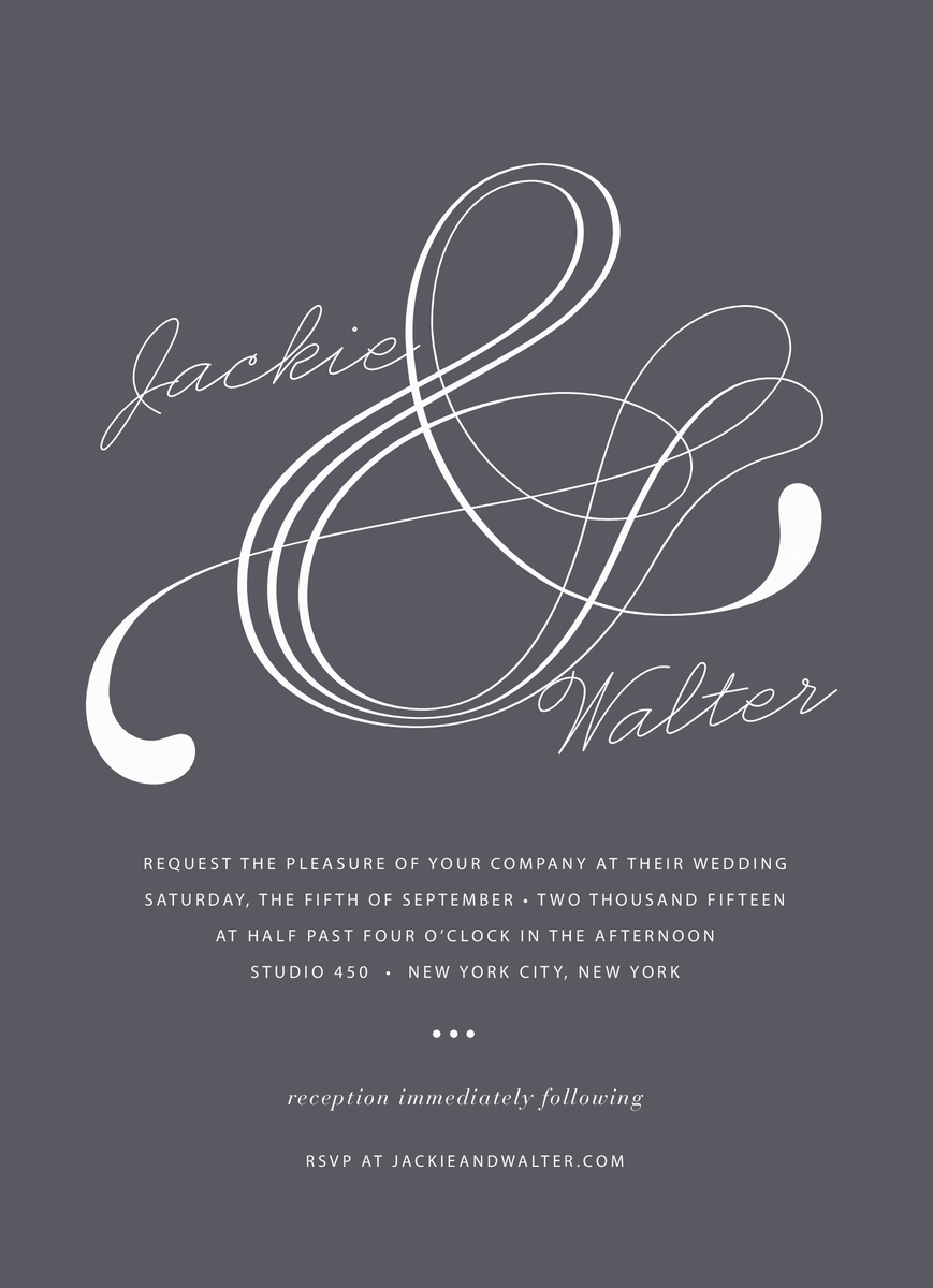 Atlantic Wedding Invitation
