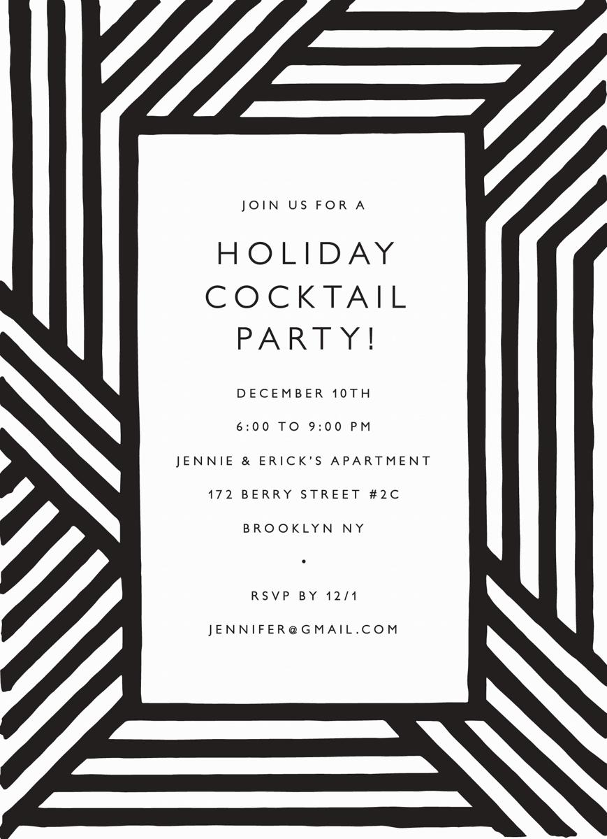 Holiday Stripes Invite