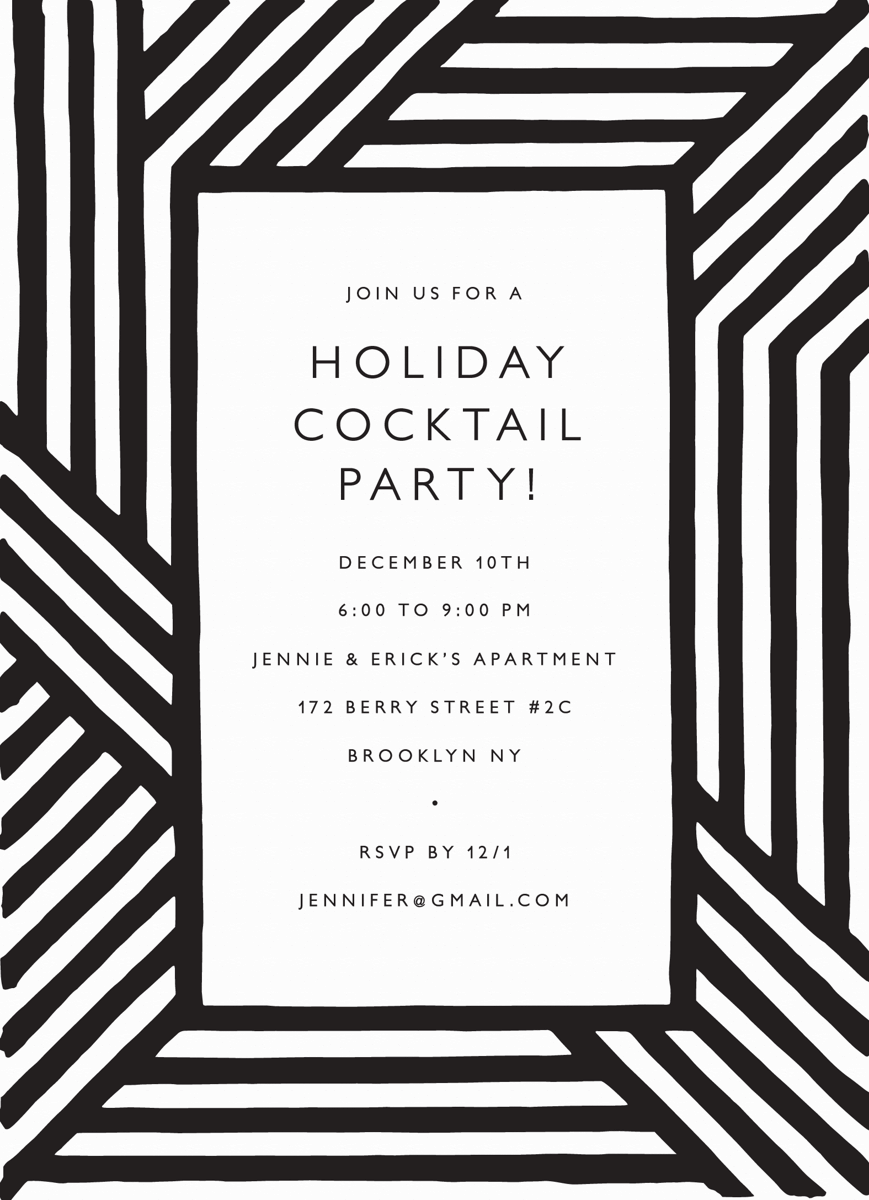 Holiday Stripes Invite