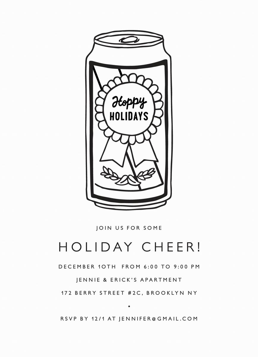 Hoppy Holidays Invite