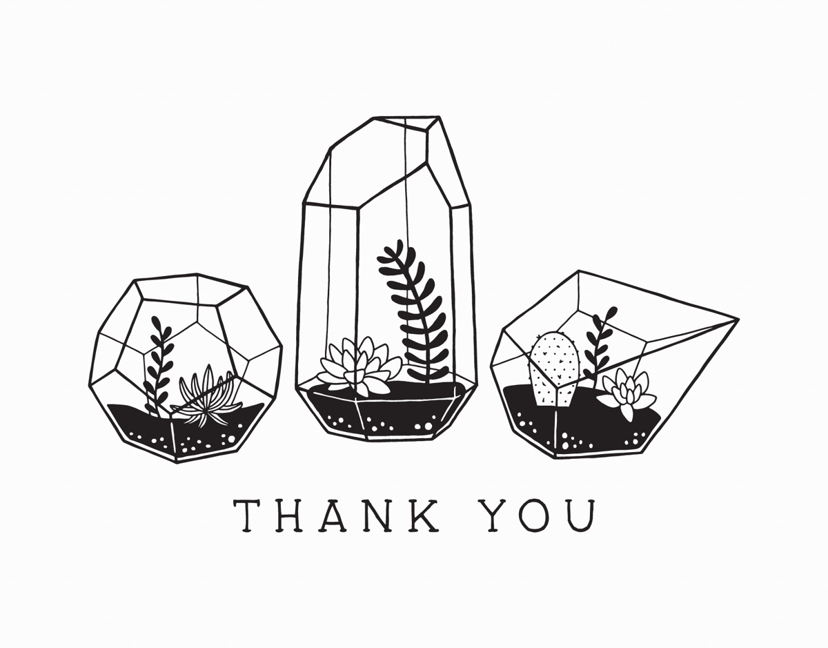 Terrarium Thank You