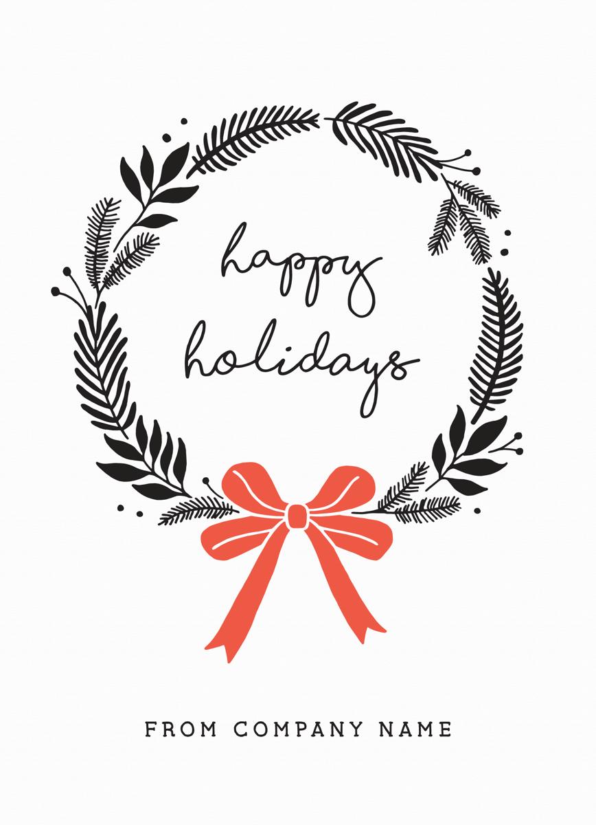 Bold Holiday Wreath Flat