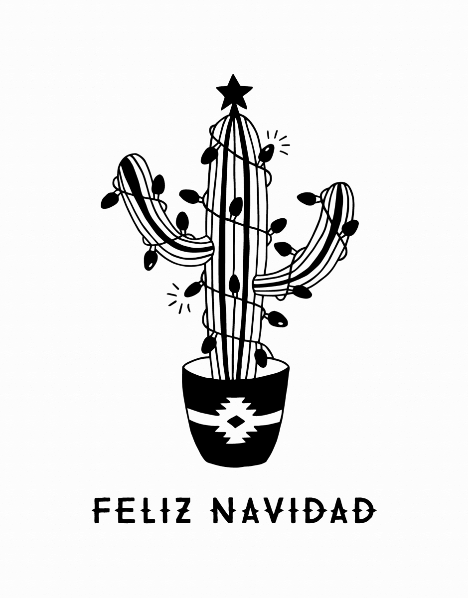 Feliz Navidad Cactus