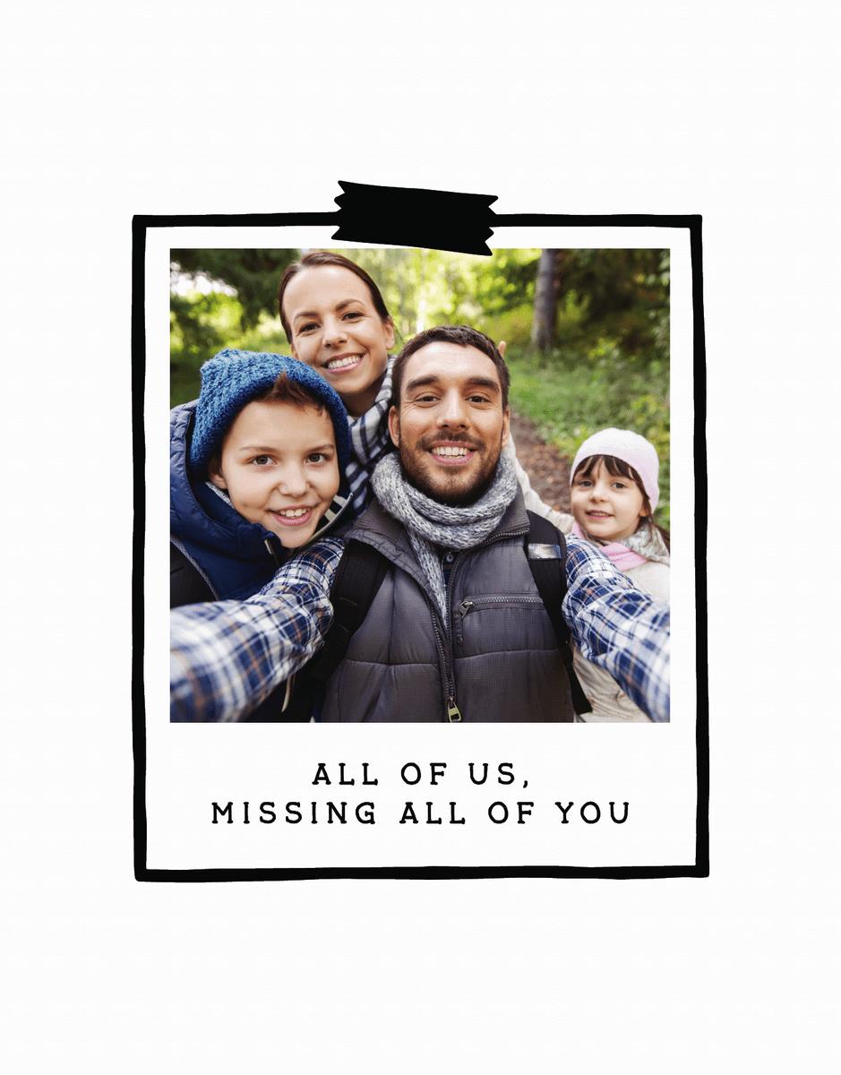 Missing You Polaroid