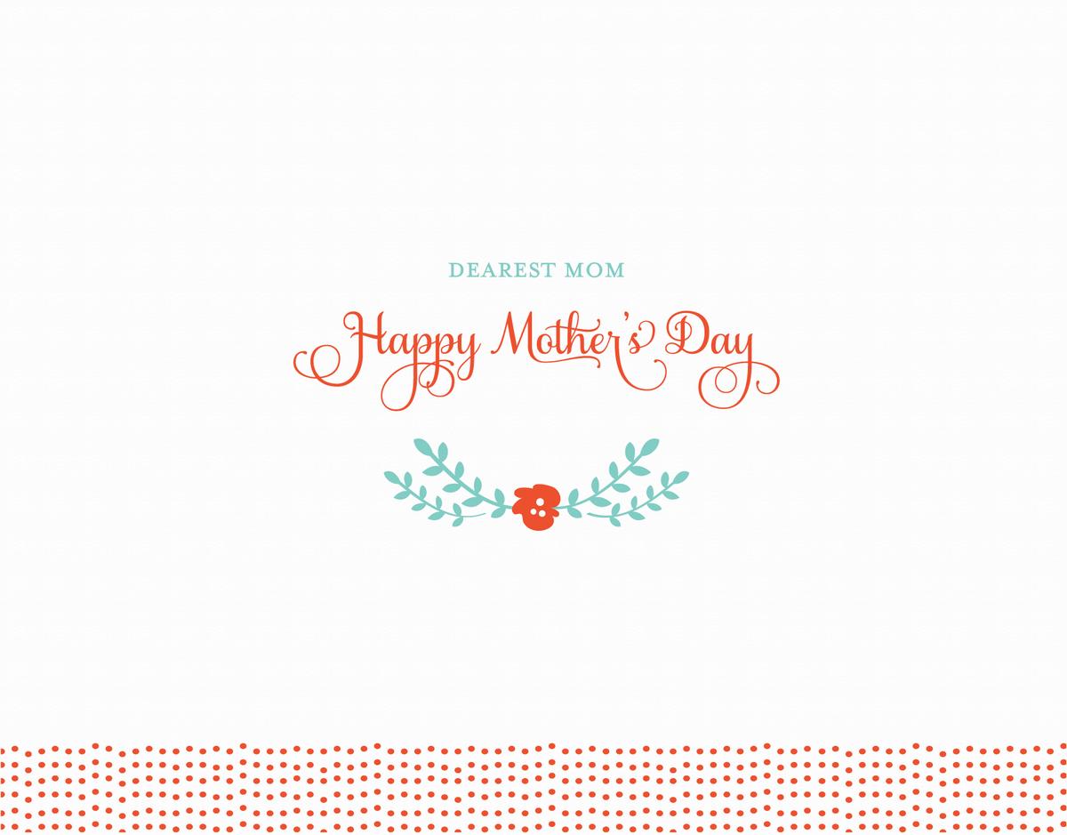 Cursive Dearest Mom Mother's Day Card