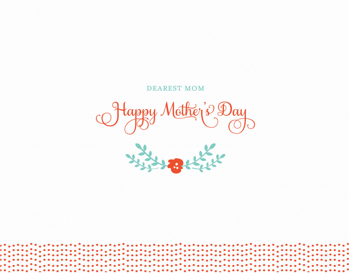 Cursive Dearest Mom Mother's Day Card