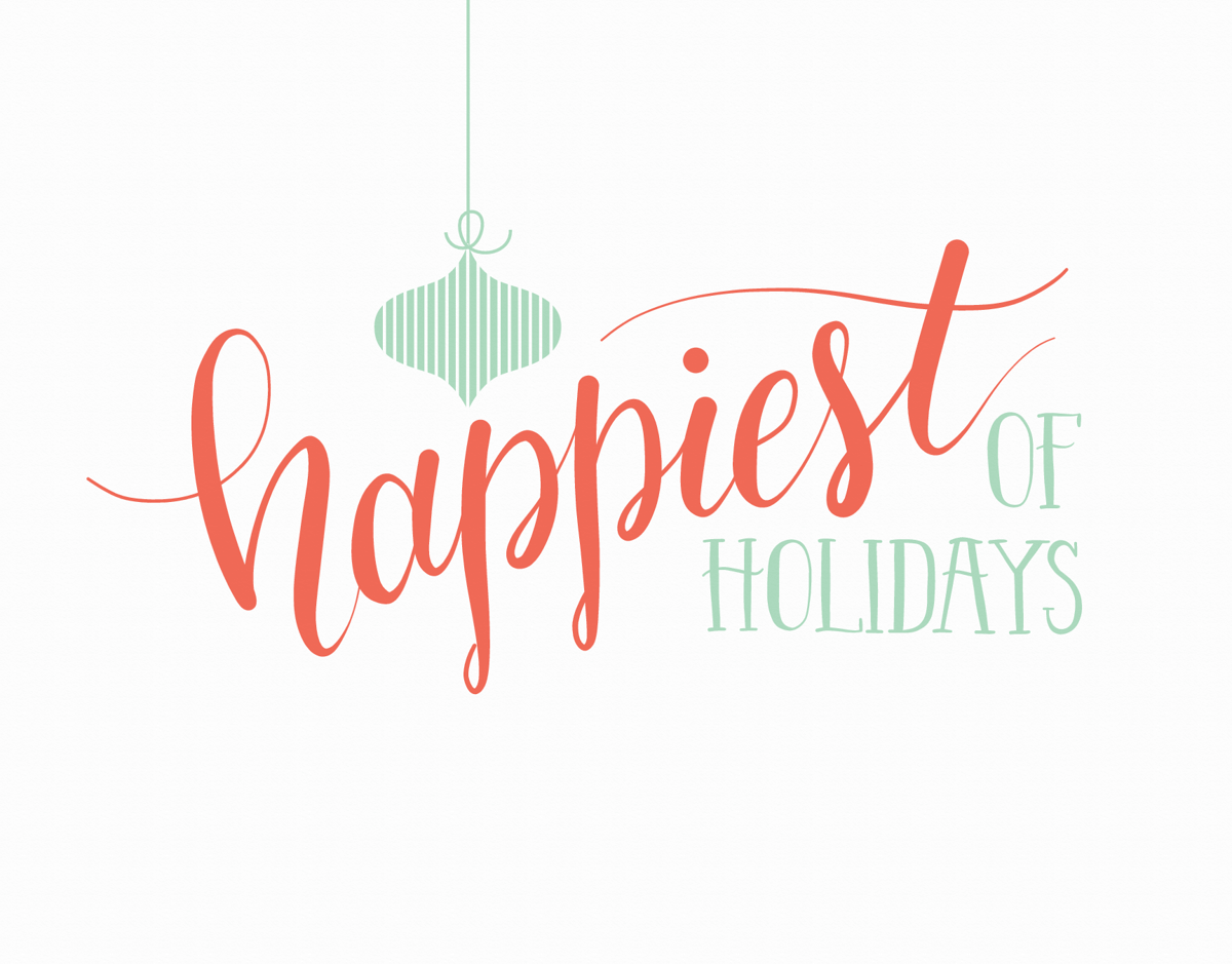 happiest of holidays greeting card