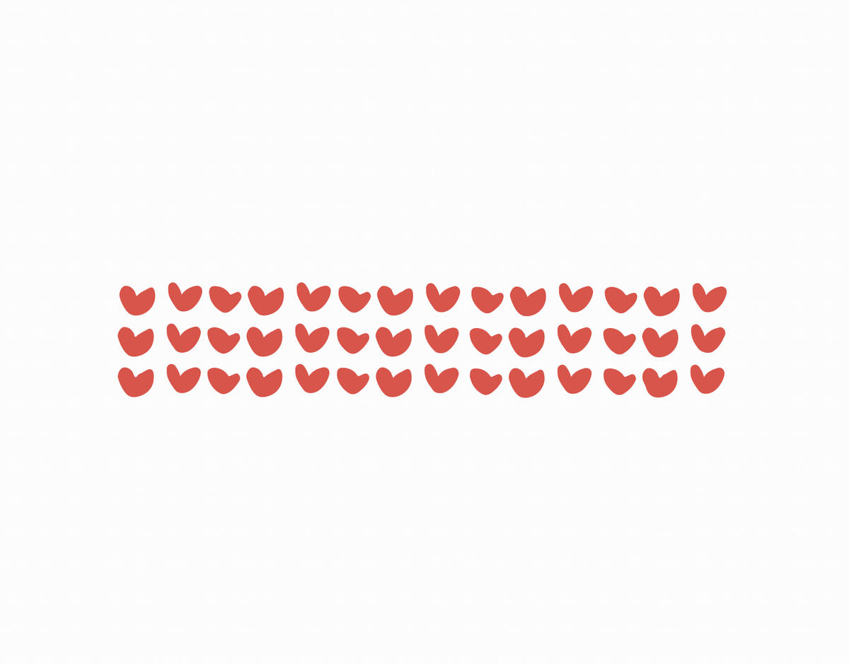 Red Hearts Pattern Valentine Card
