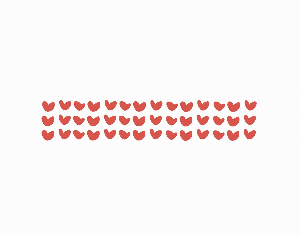 Red Hearts Pattern Valentine Card