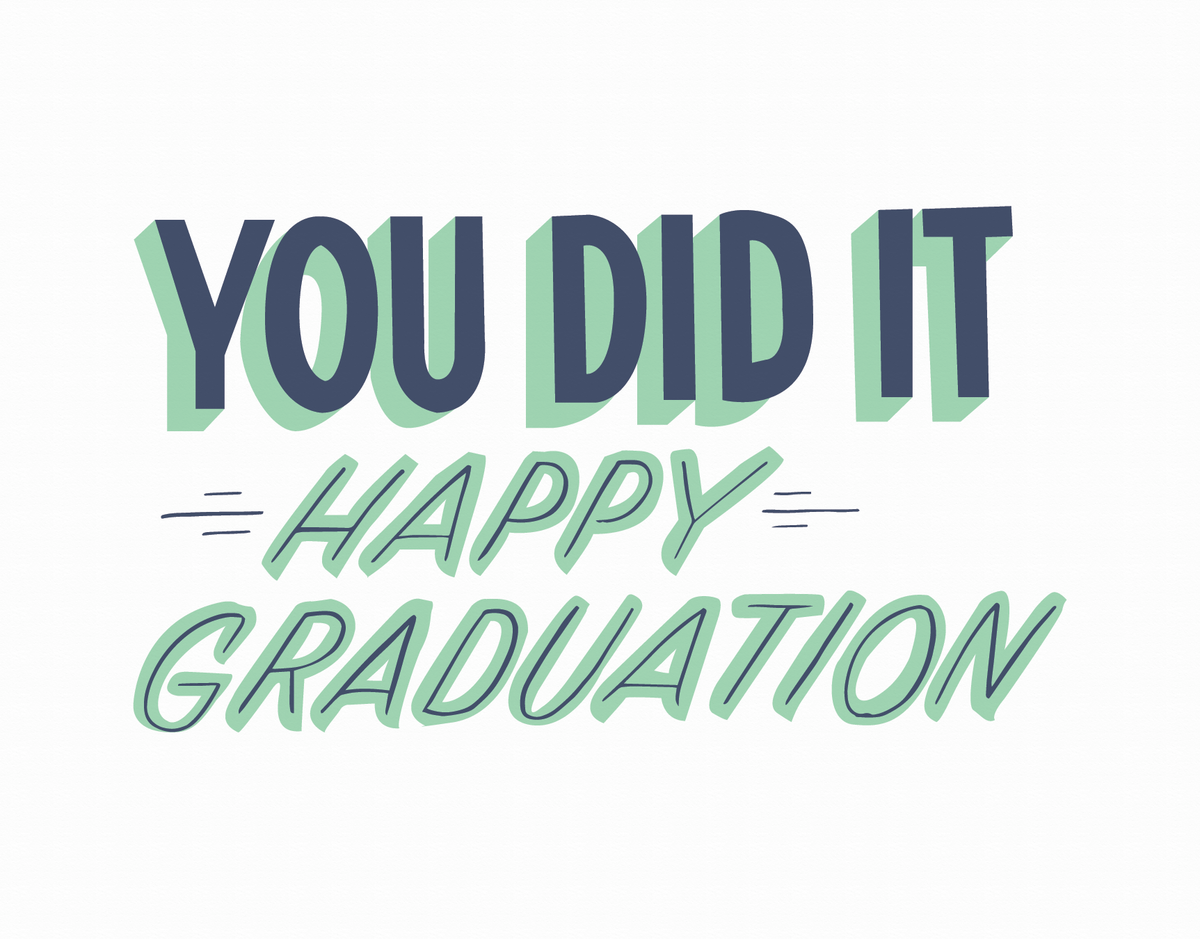 You Did It Graduation by Iron Curtain Press | Postable
