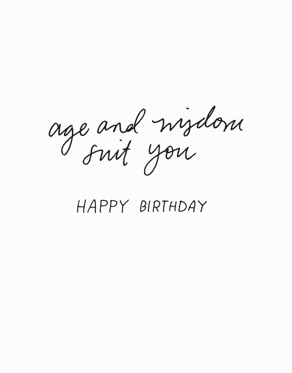 Age and Wisdom