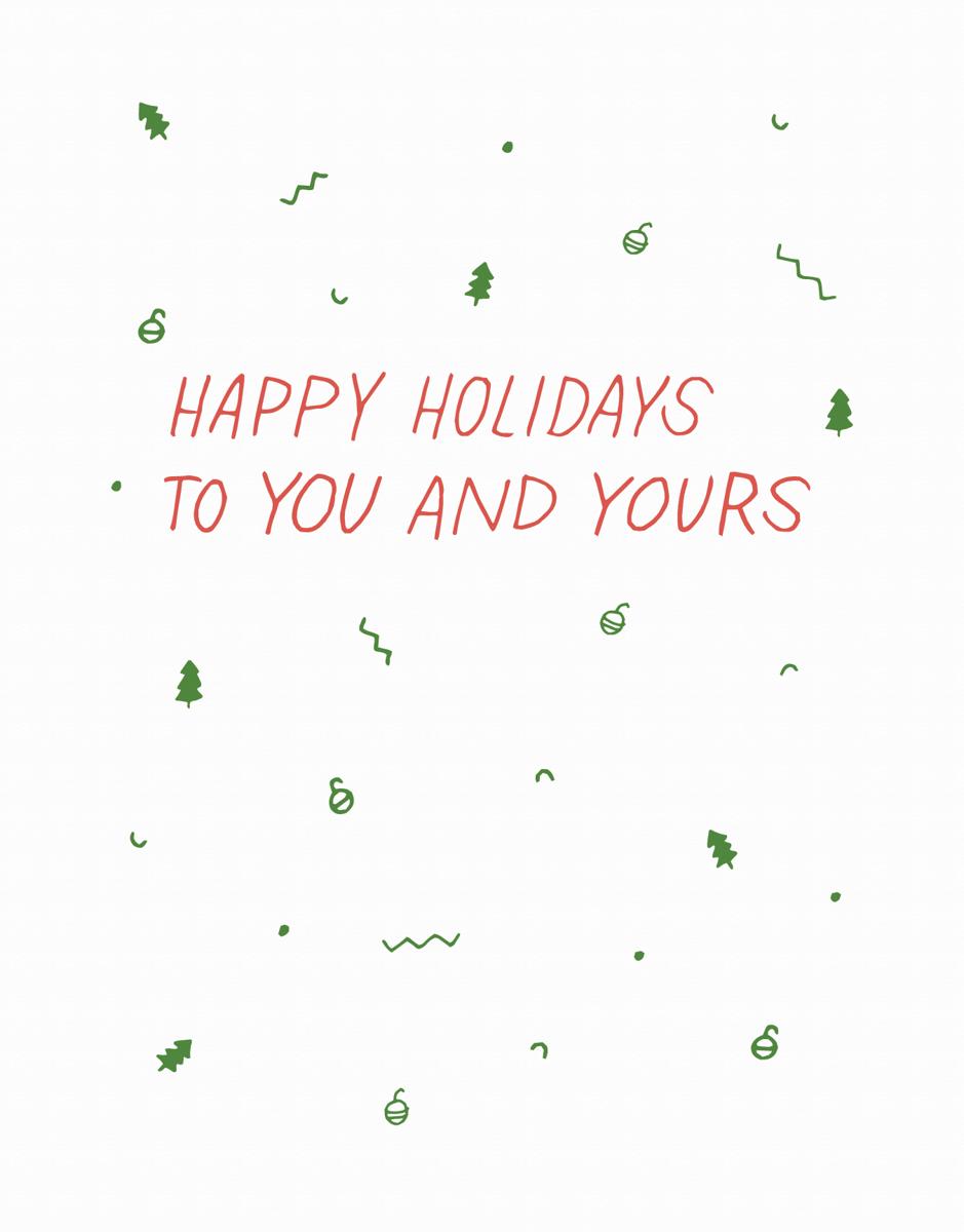 Holiday Confetti Card