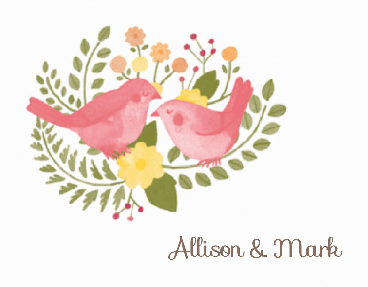Flora & Fauna Thank You Card