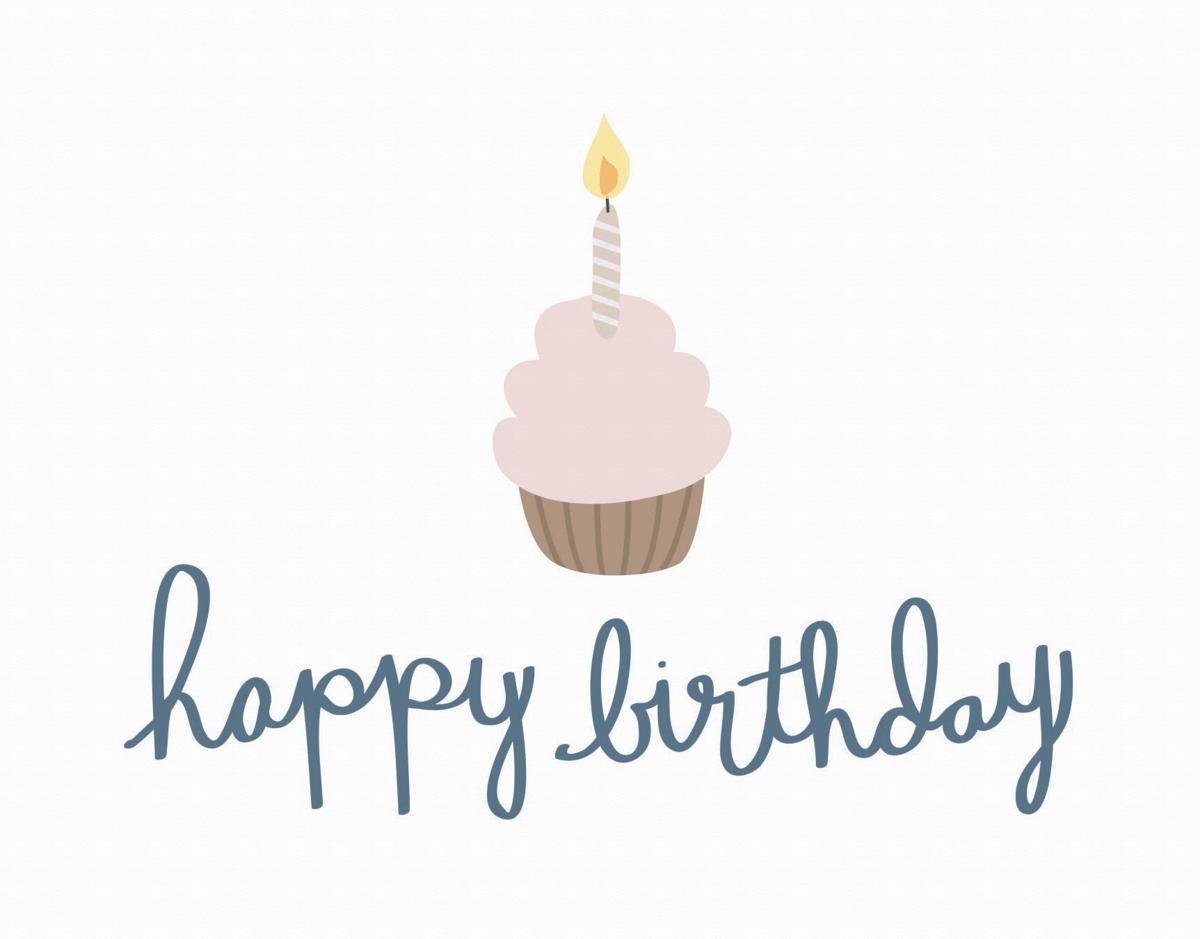 Adorable Cupcake Happy Birthday Card