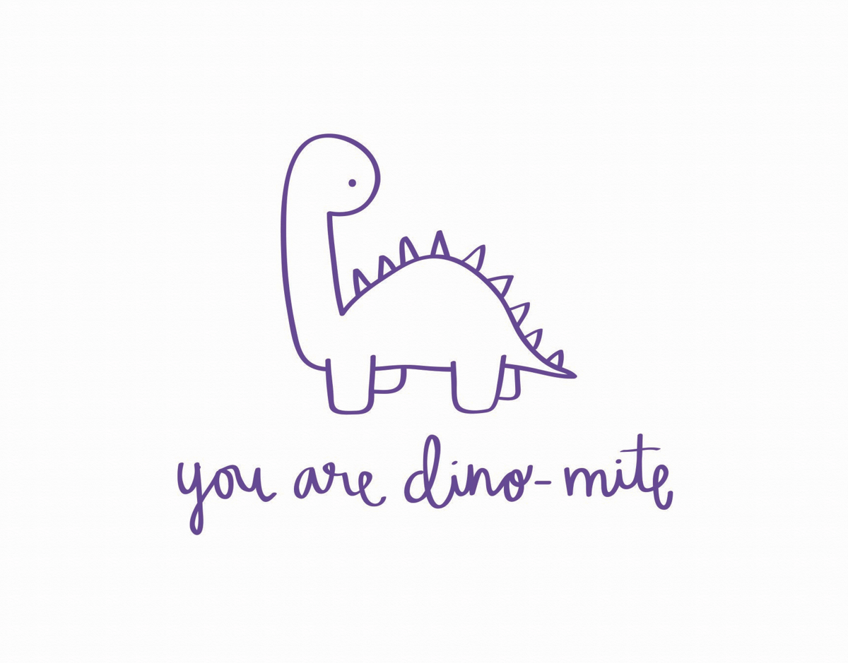 You're Dino Mite Pun I Love You Card