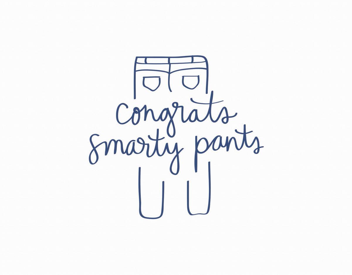Punny Smarty Pants Congrats Card
