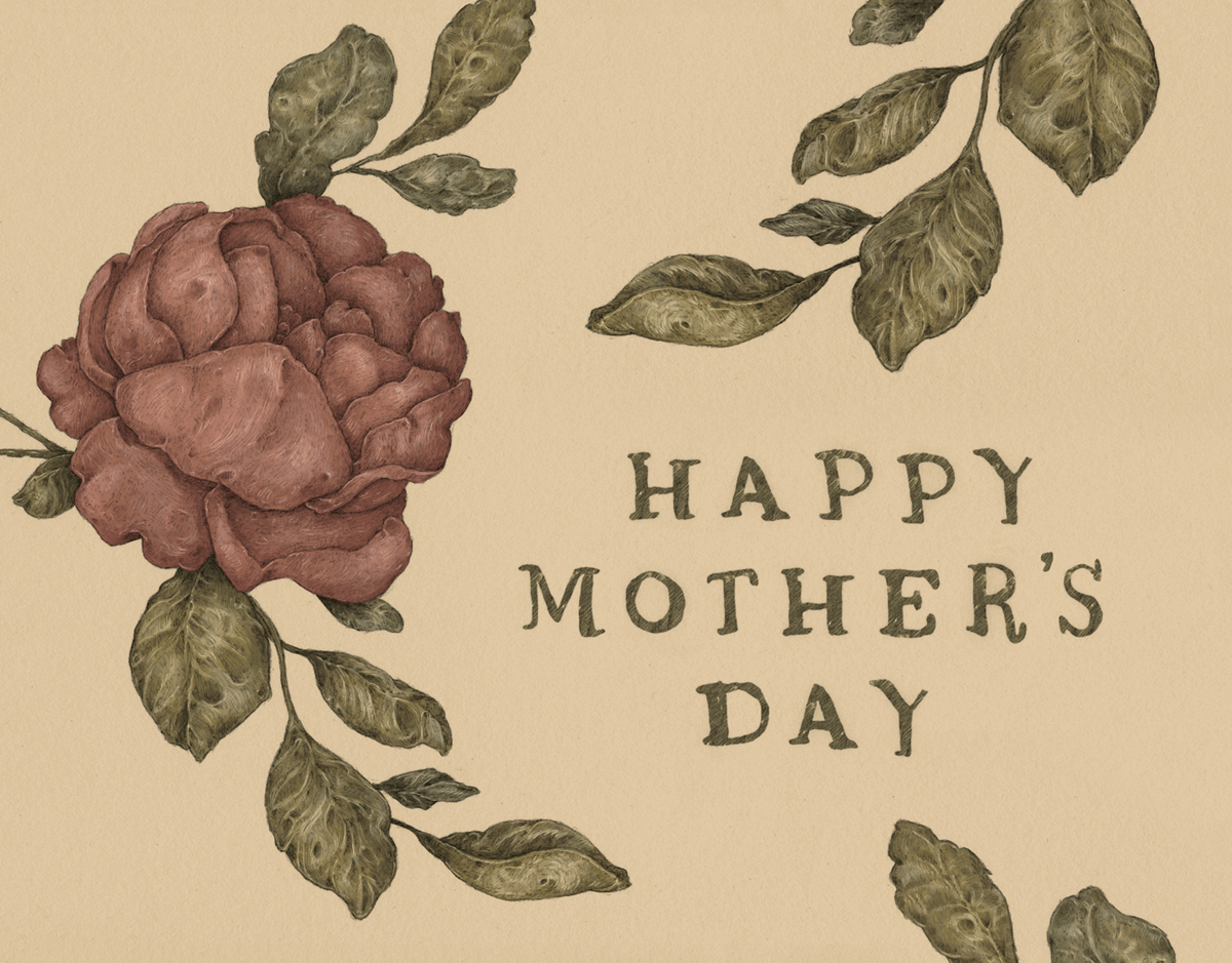 Earty Rose Happy Mothers Day Card