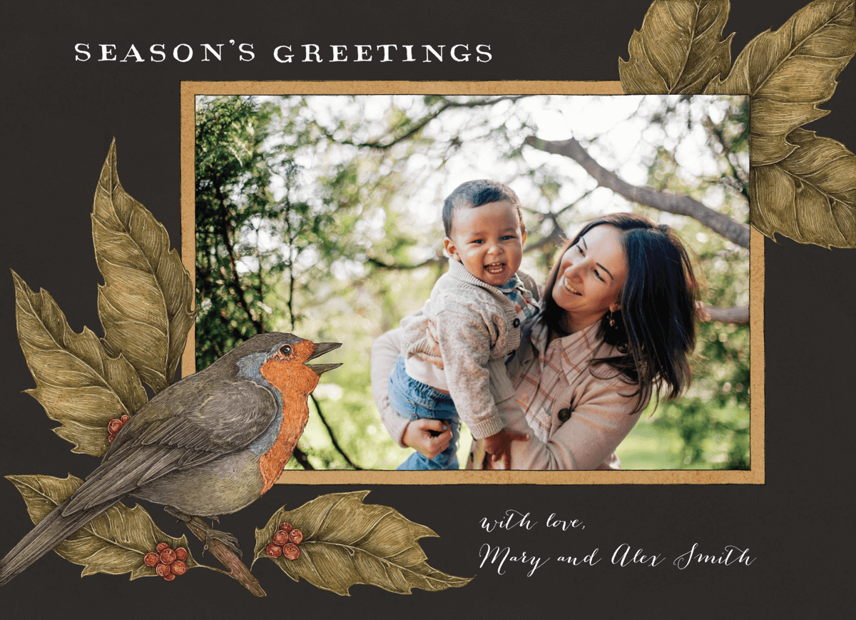 rustic-holiday-photo-card