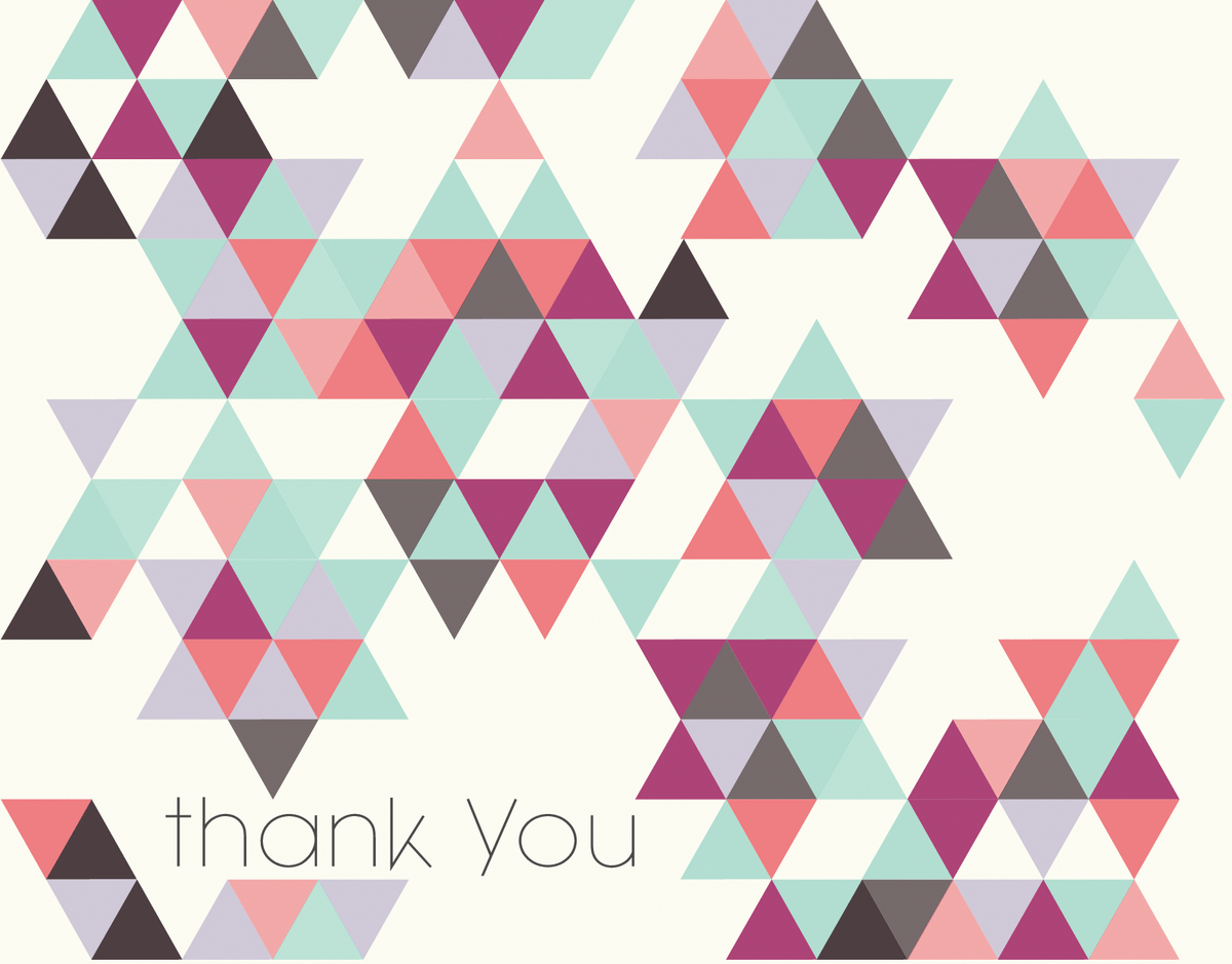 Colorful Geometric Bar & Bat Mitzvah thank You card