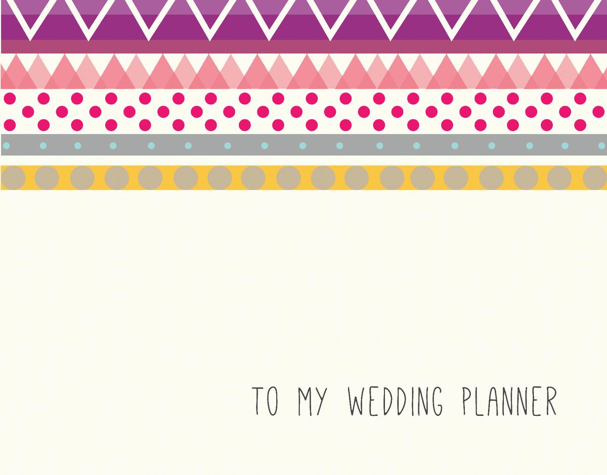 Vintage Bridal Party Card for Wedding Planner
