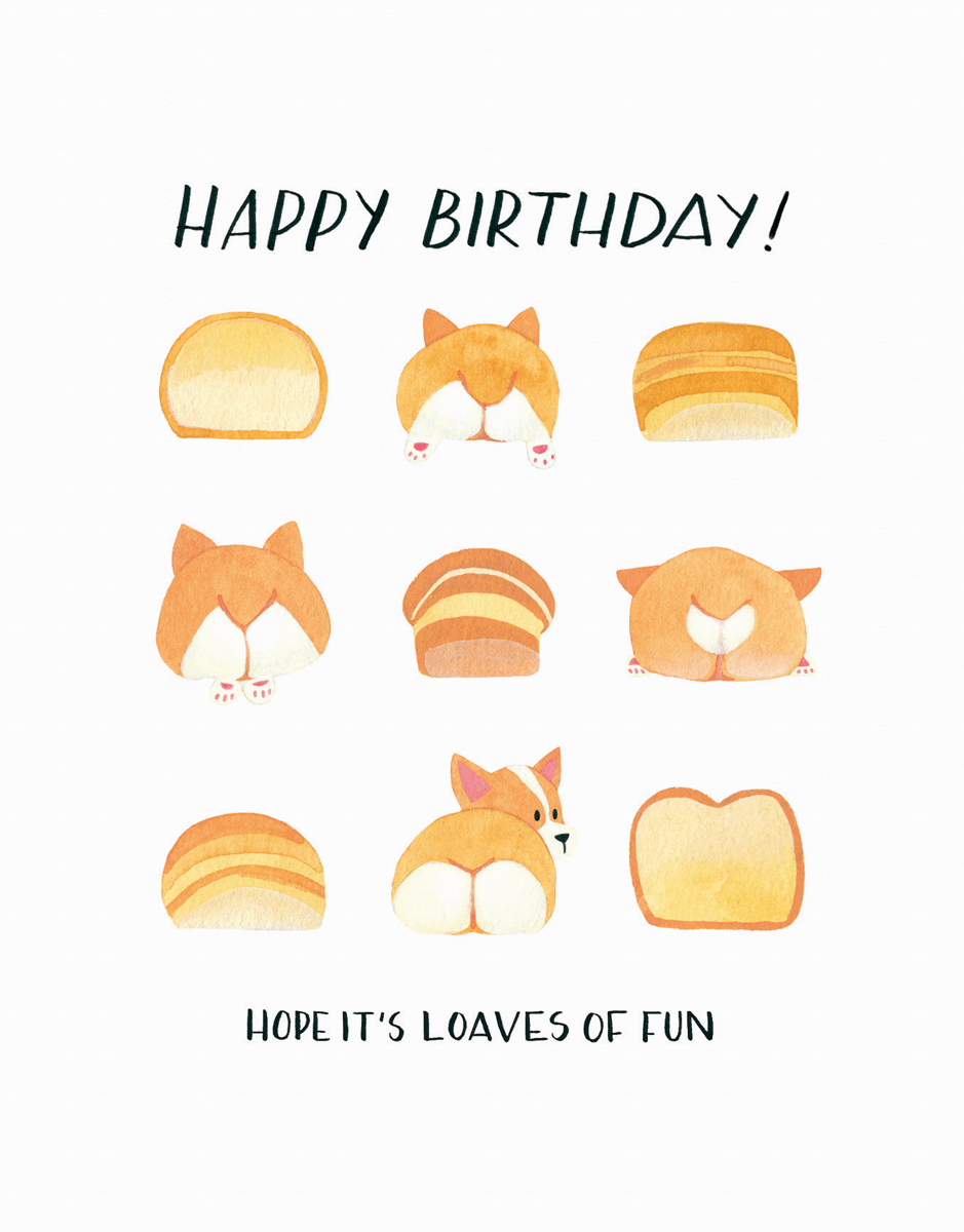 Corgi Butts Birthday