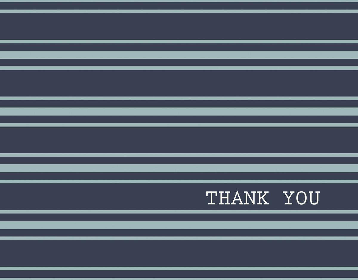 Navy Polo Thank You Card
