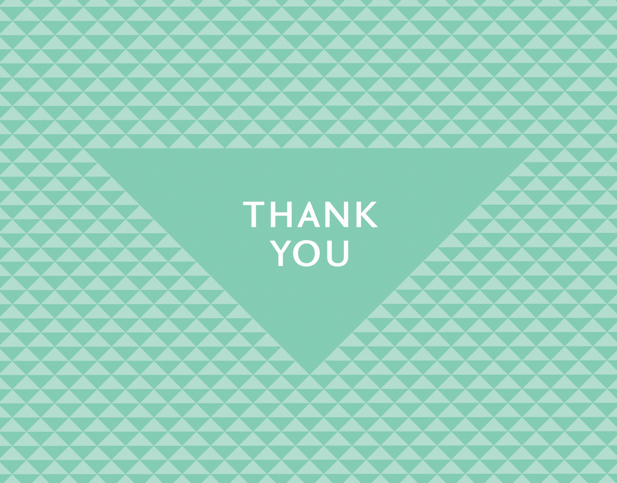 Green Triangles Thank You Note